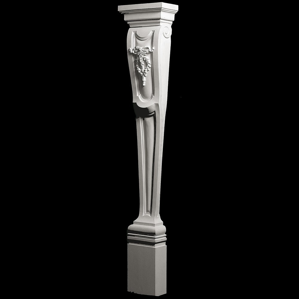 BASE-121 Profile Fireplace Mantel Resin Base With Drop