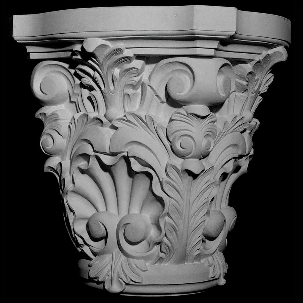 CAP-140 Series Acanthus Leaf and Shell Resin Capitol