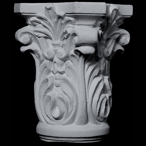 CAP-160 Series Acanthus Leaf and Fleur de lis Resin Capitol