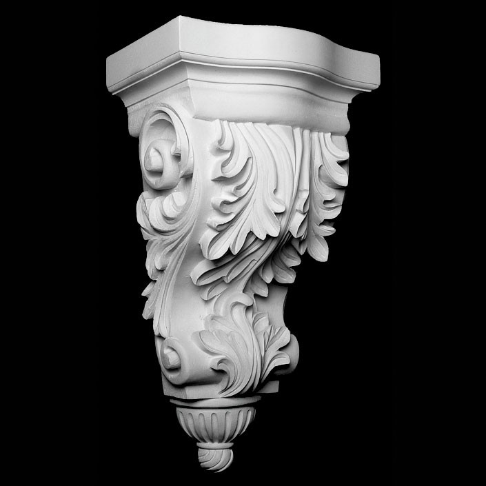 CB-110 Acanthus Leaf with Rounded Ribbed Bottom Resin Corbel