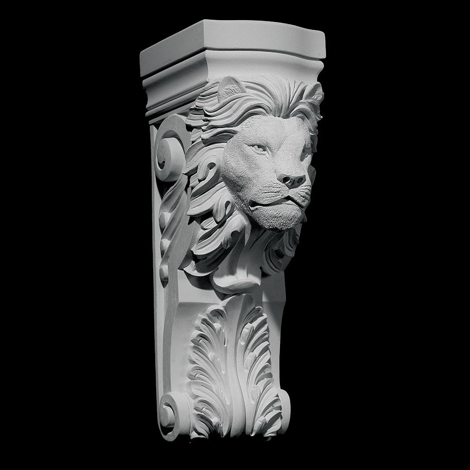 CB-314 Lion Face Acanthus Leaf Resin Corbel