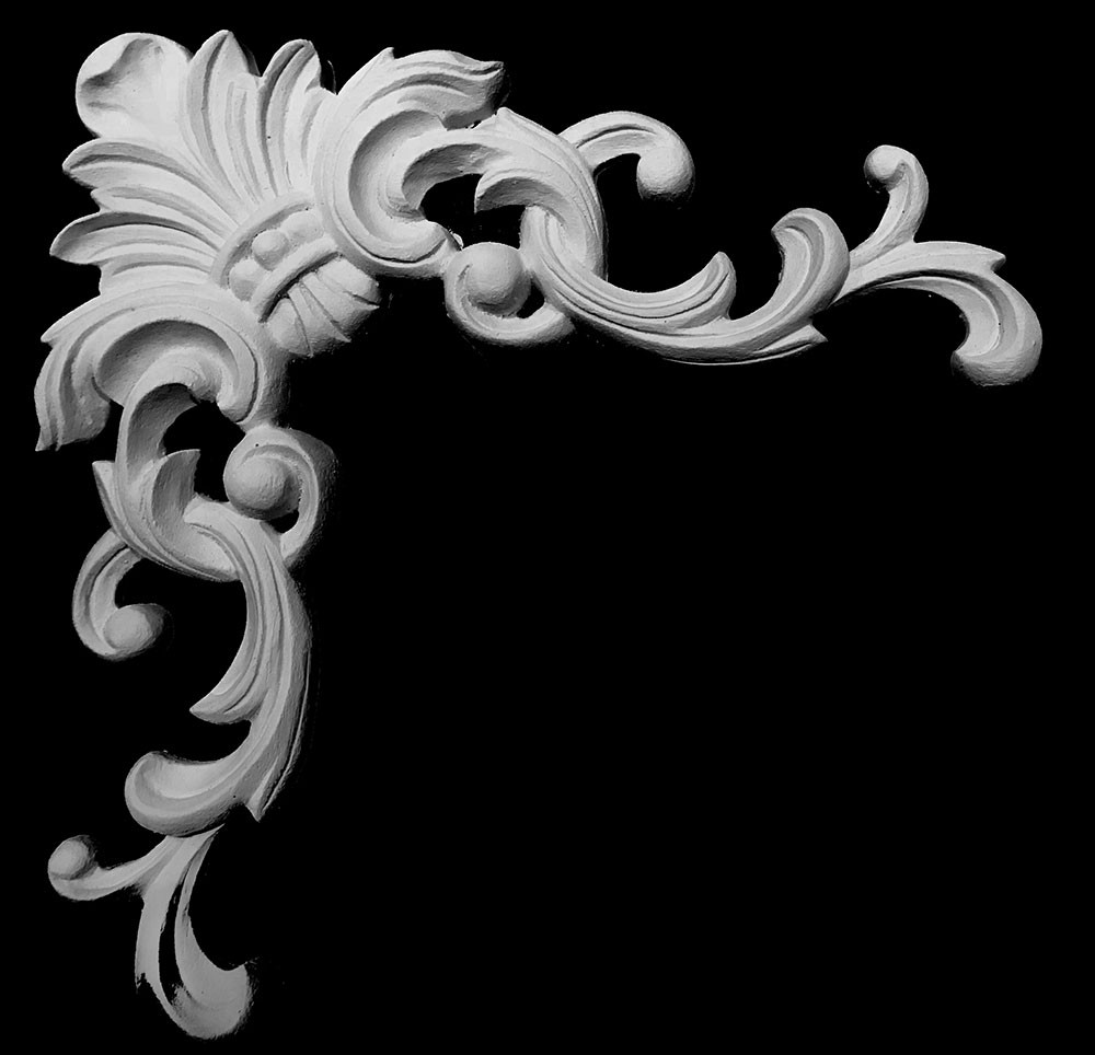 CE-310 Series Acanthus Leaf With Swag Resin Corner Element