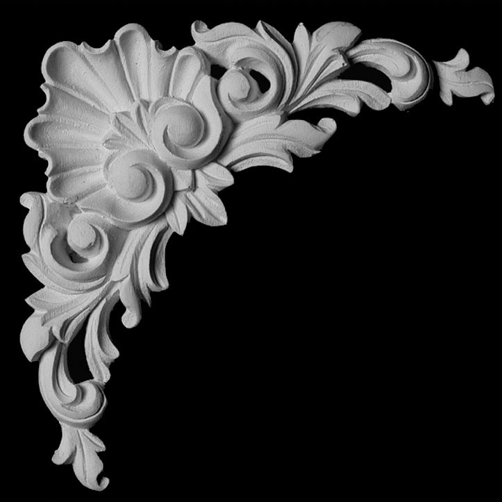 CE-142 Series Shell with Acanthus Leaf Resin Corner Element
