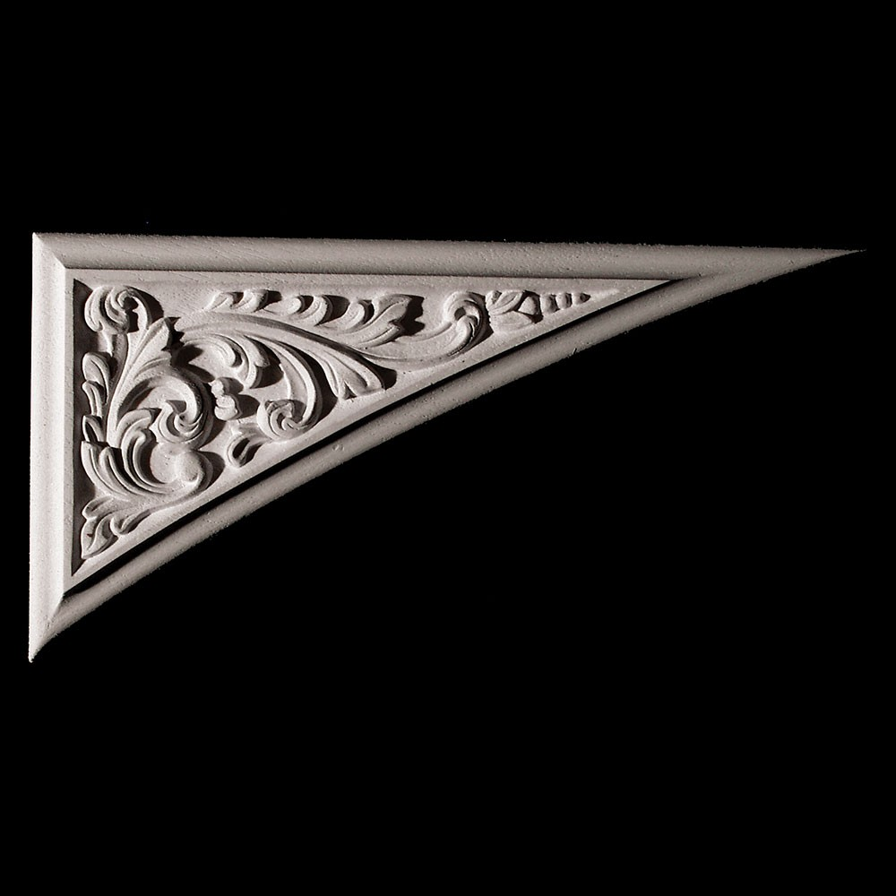 CE-151-7 Series Acanthus Leaf Scroll Raised Panel Resin Corner Element