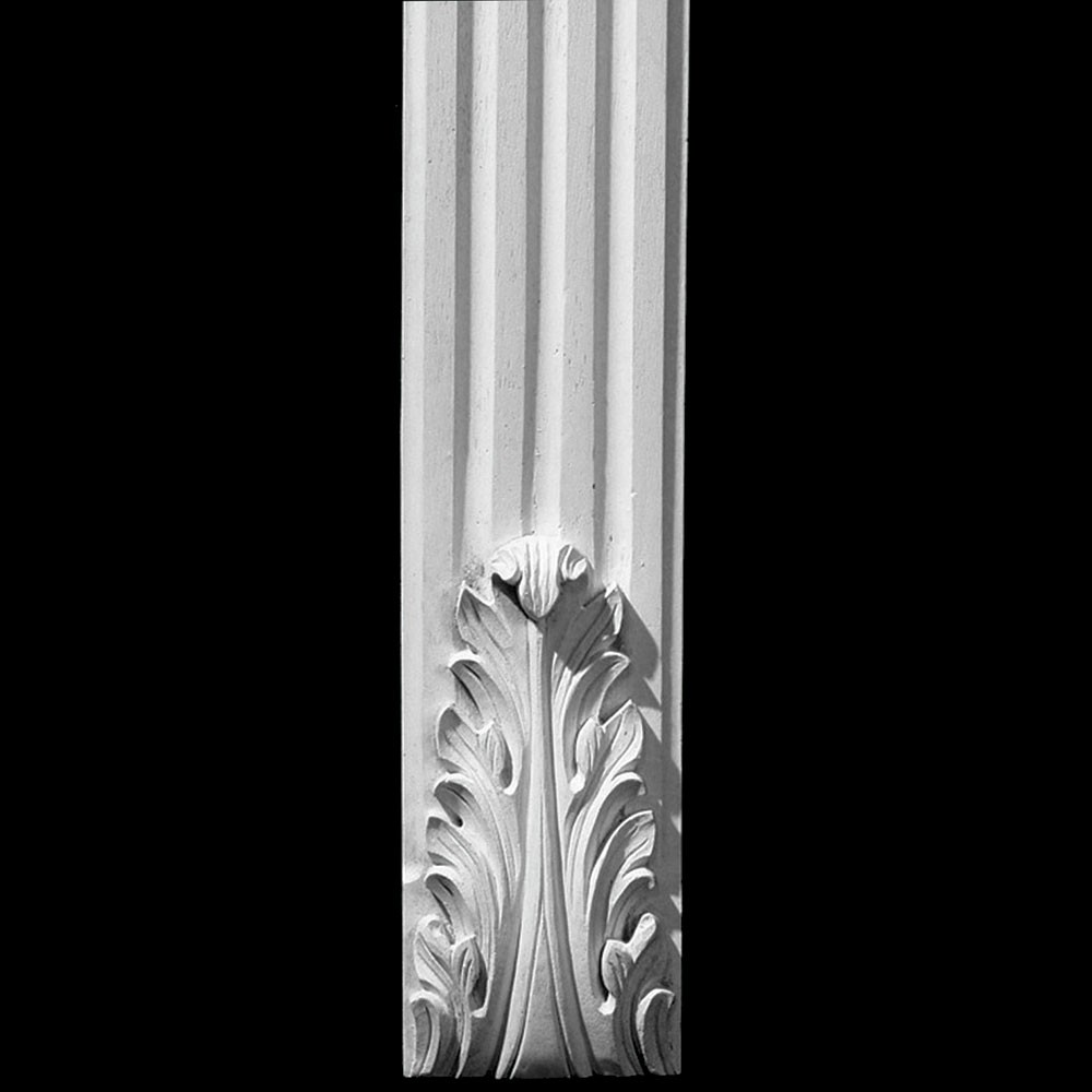 COLM-107 Series Acanthus Leaf Flat Front Concave Fluted Resin Column
