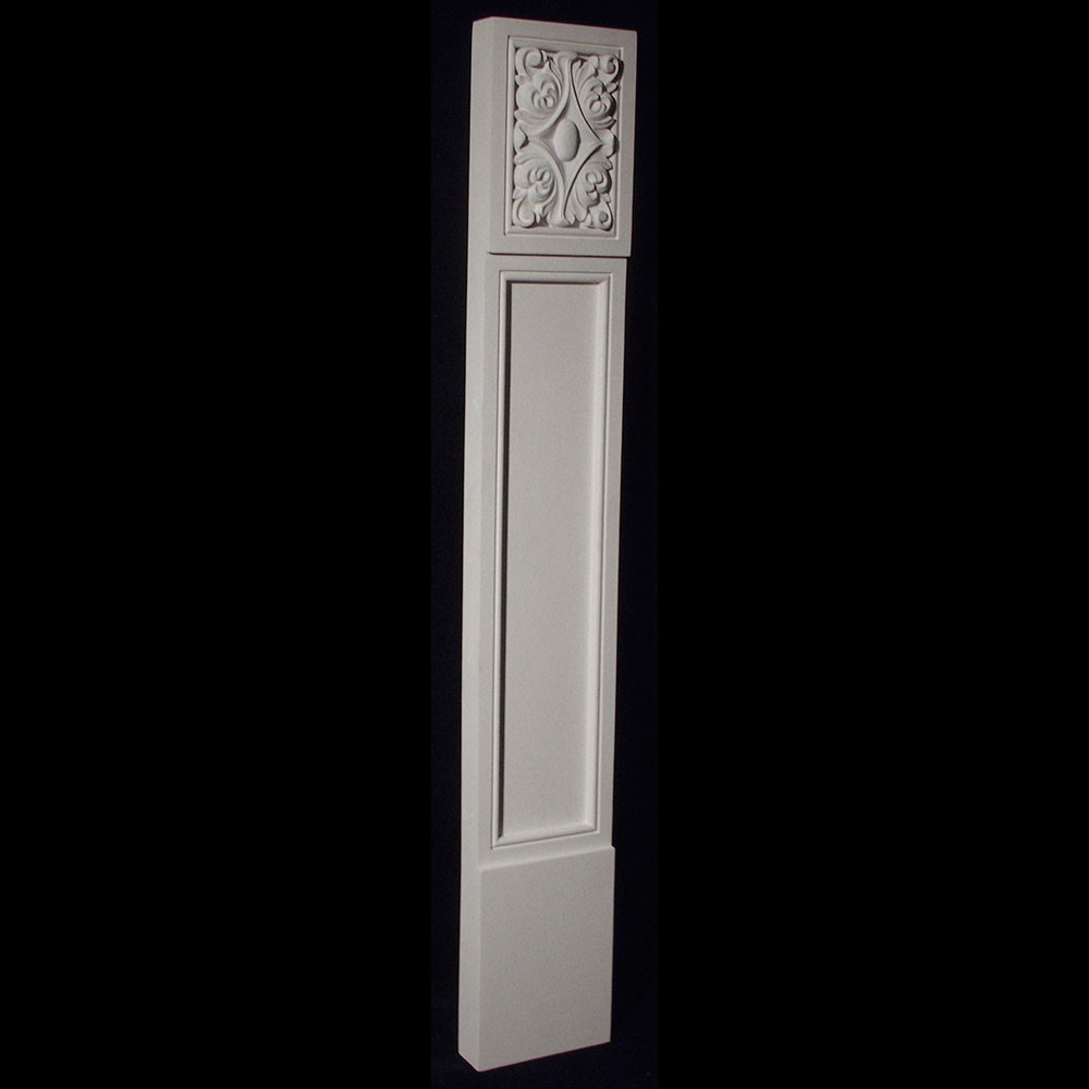 COLM-131BR Craftsman Style Resin Column With Acanthus Leaf Rosette