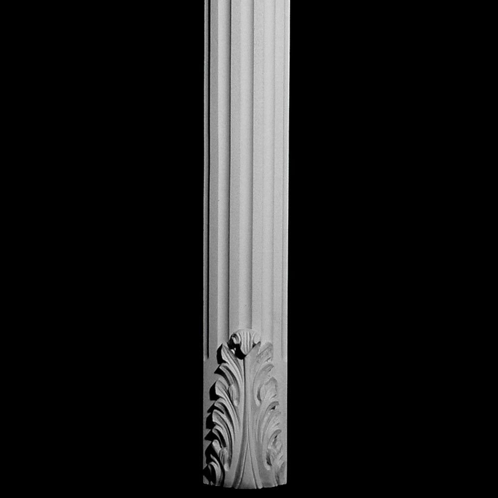 COLM-108 Series Acanthus Leaf Radius Front Concave Fluted Resin Column