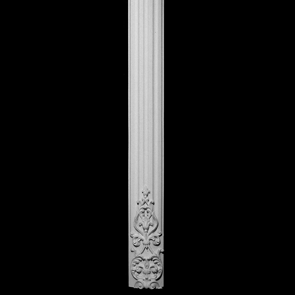 COLM-111 Series Carved Onlay Flat Radius Concave Fluted Resin Column