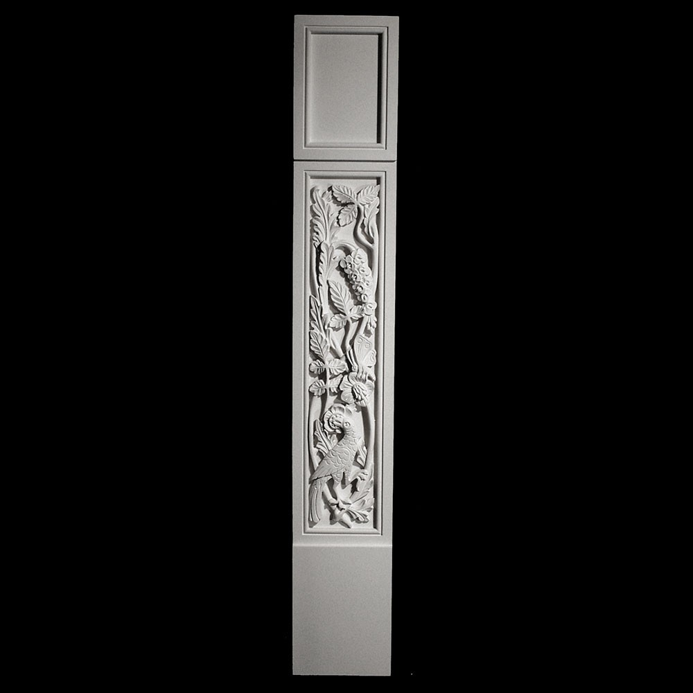 COLM-131-2 Series Craftsman Style Resin Column With Peacock Pattern Onlay