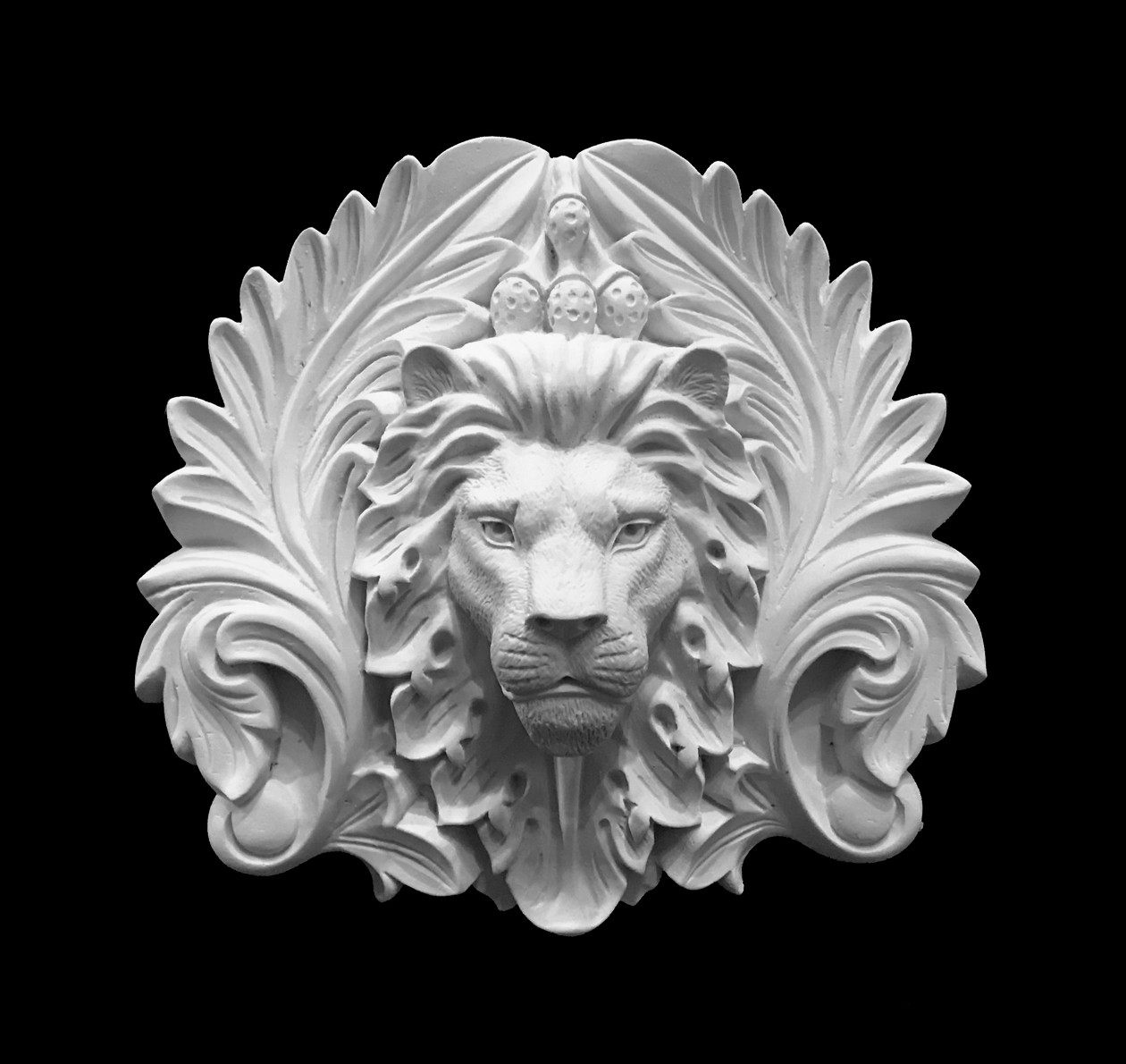 CP-214 Lion Face and Acanthus Leaf Resin Center