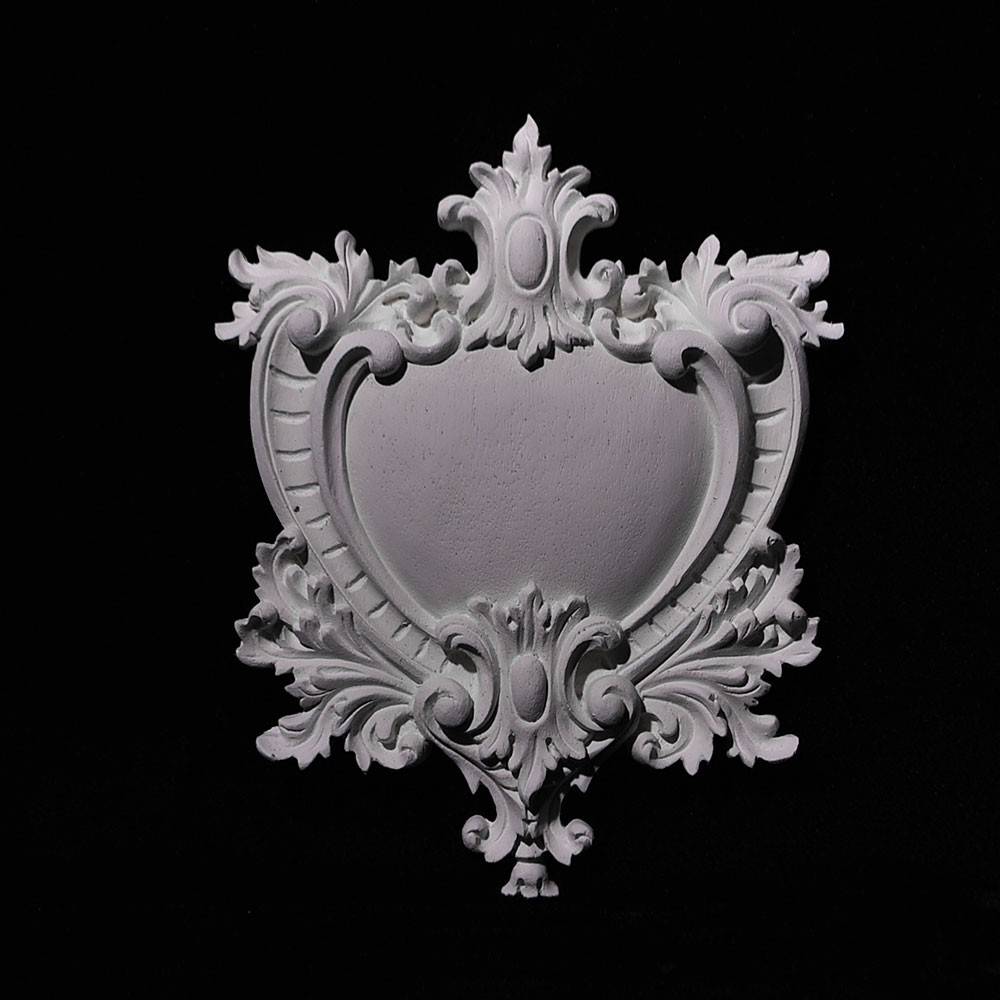 CP-130 Series Royal Heart Charm Shield Resin Centerpiece