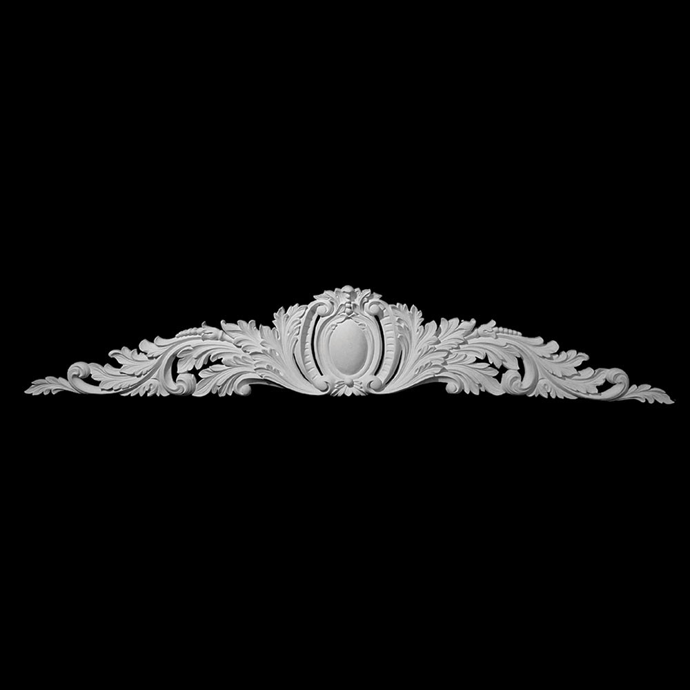 CT-125 Oval Shield with Acanthus Leaf Resin Cartouche