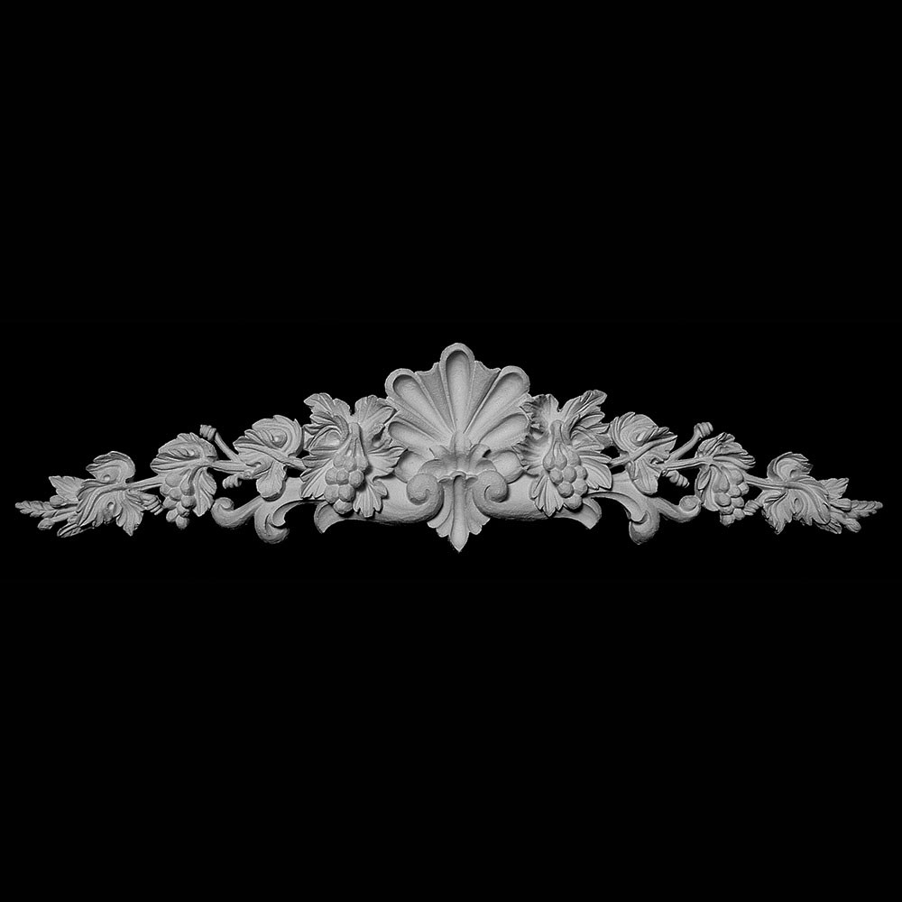 CT-190 Series Shell with Grape Vine and Acanthus Leaf Resin Cartouche