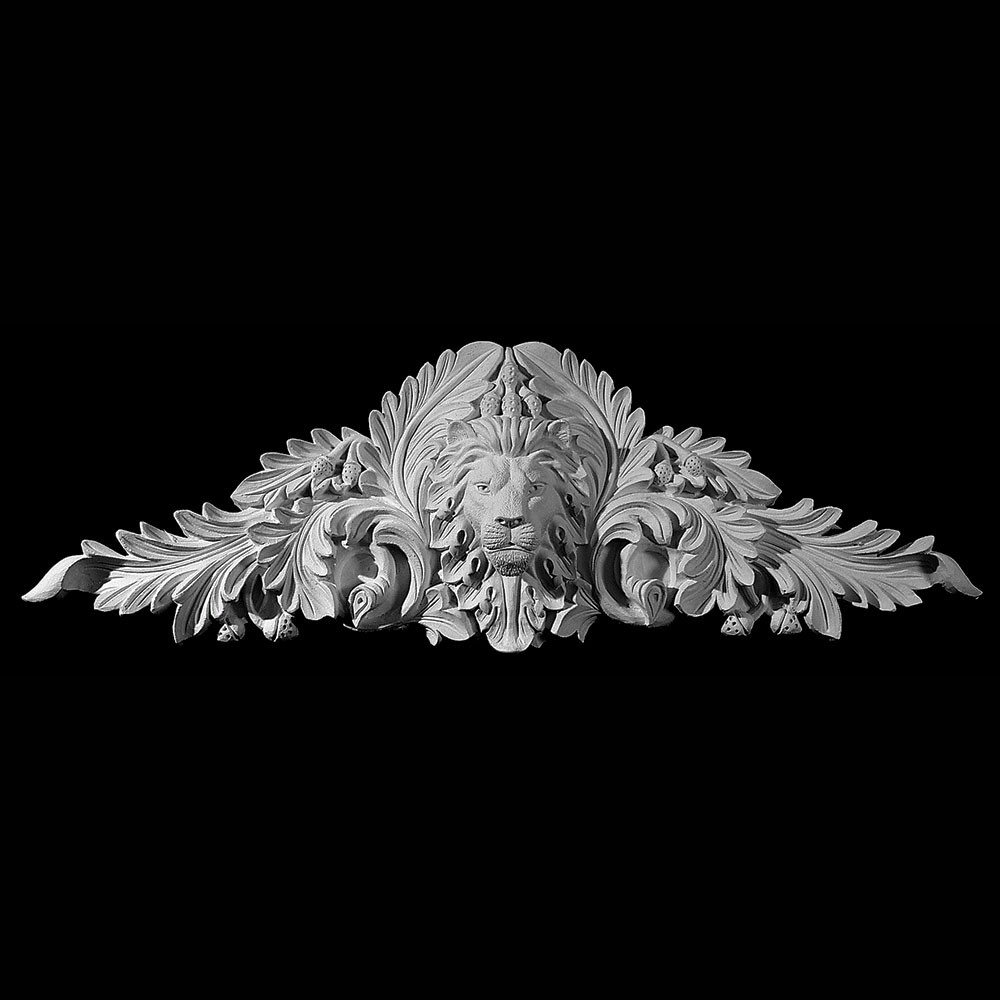 CT-202 Series Lions Face with Acanthus Leaf and Acorns Resin Cartouche