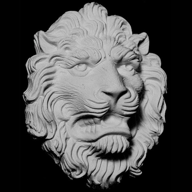 FACE-120 Series Resin Growling Lion Face