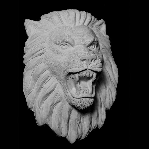 FACE-124 Series Resin Growling Lion Face