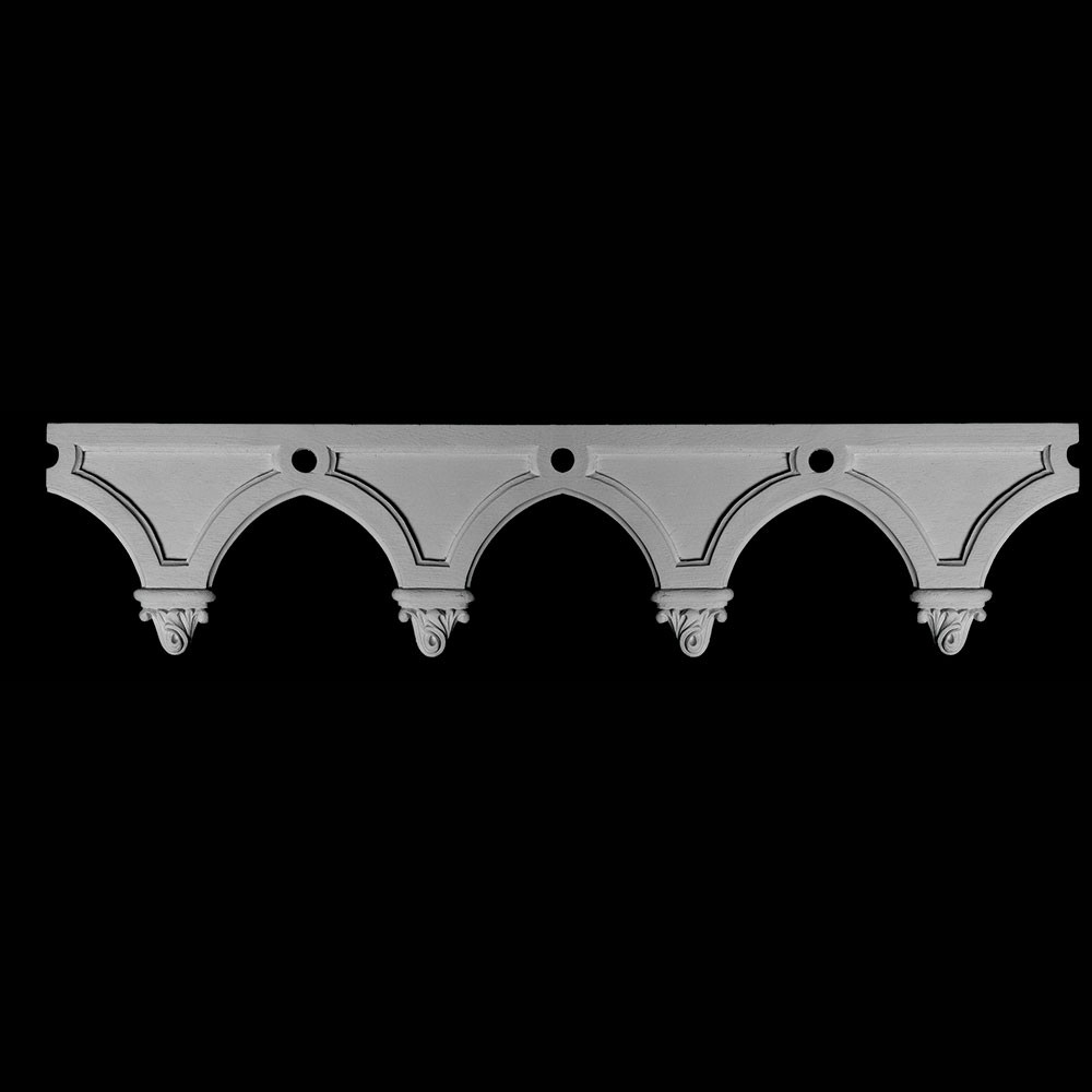 FRZ-117 Series Arches with Floret Resin Frieze Moulding