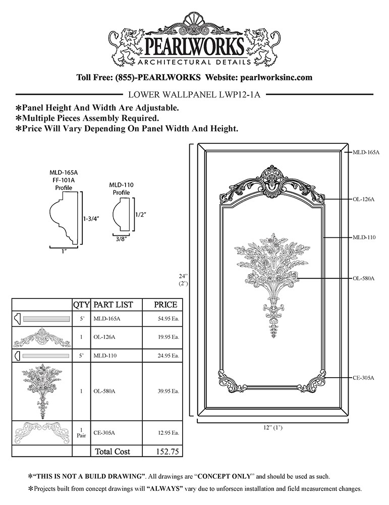 LWP012-1A Lower Wall Panel