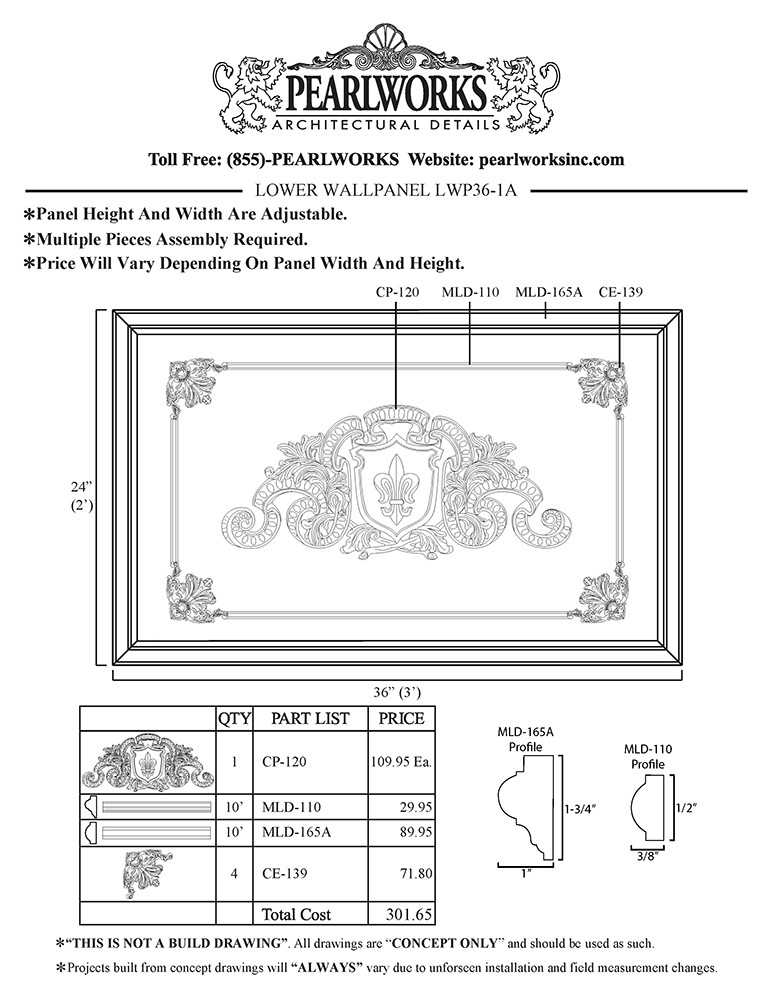 LWP036-1A Lower Wall Panel