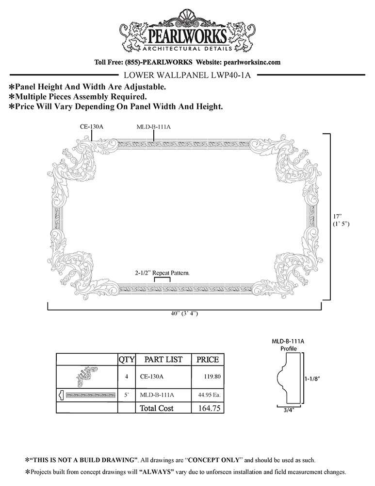 LWP040-1A Lower Wall Panel