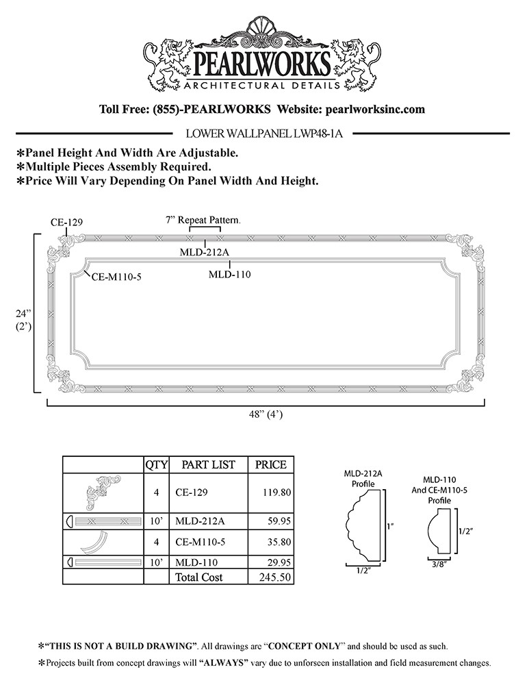 LWP048-1A Lower Wall Panel
