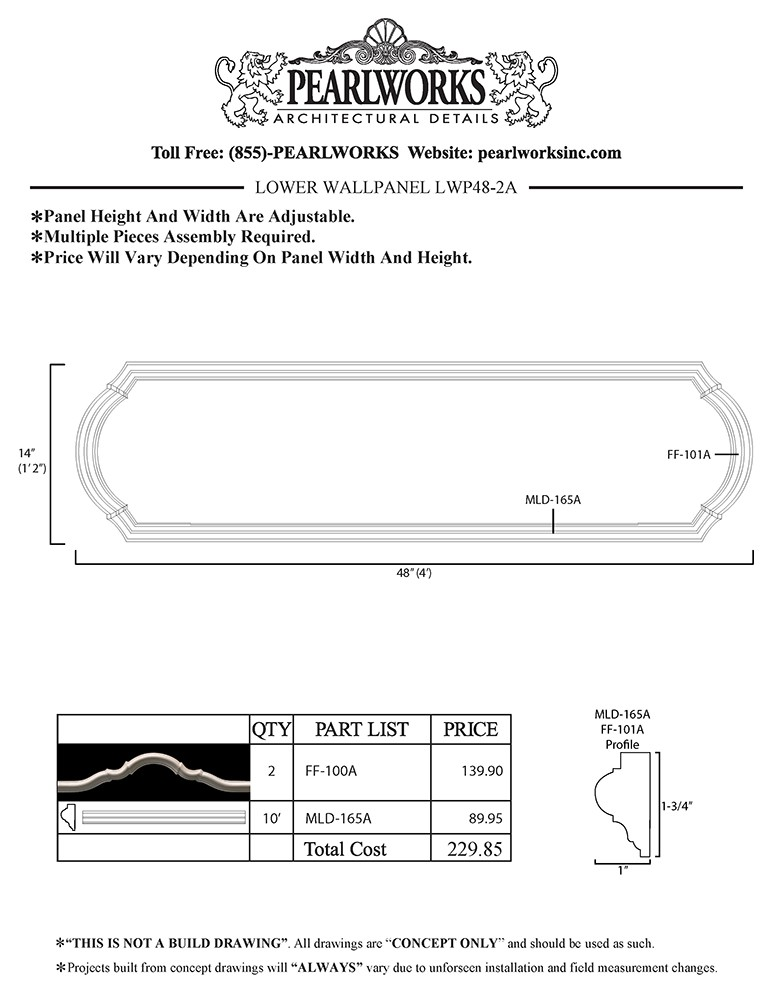 LWP048-2A Lower Wall Panel