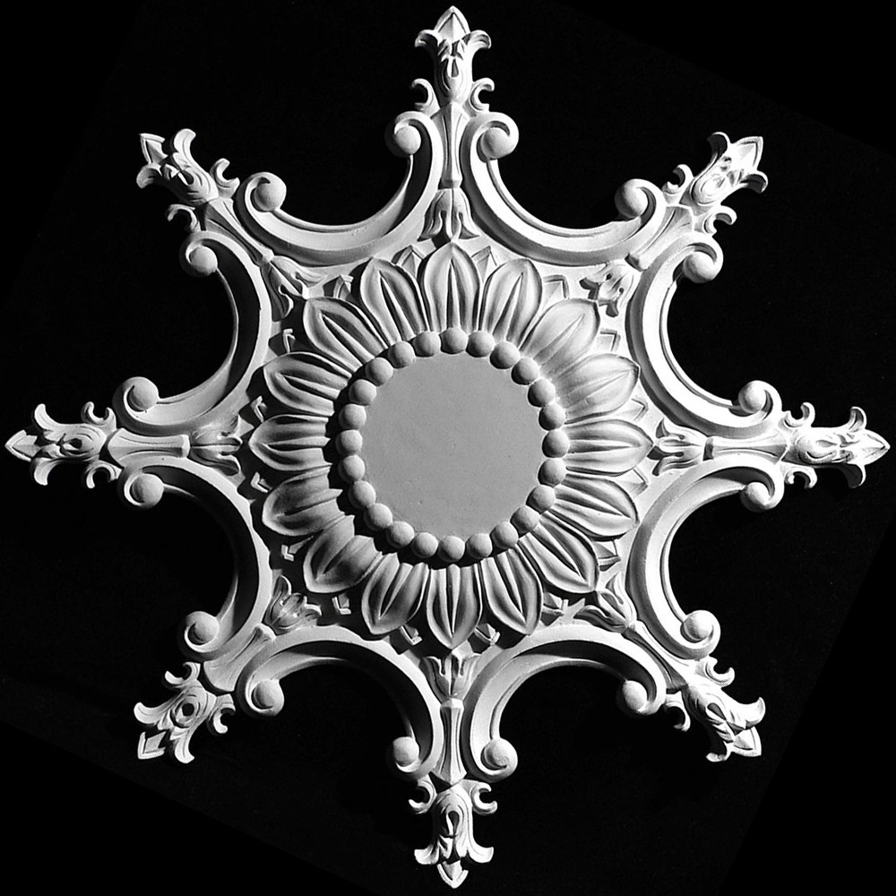 MD-164 Sunflower with Darts Resin Medallion