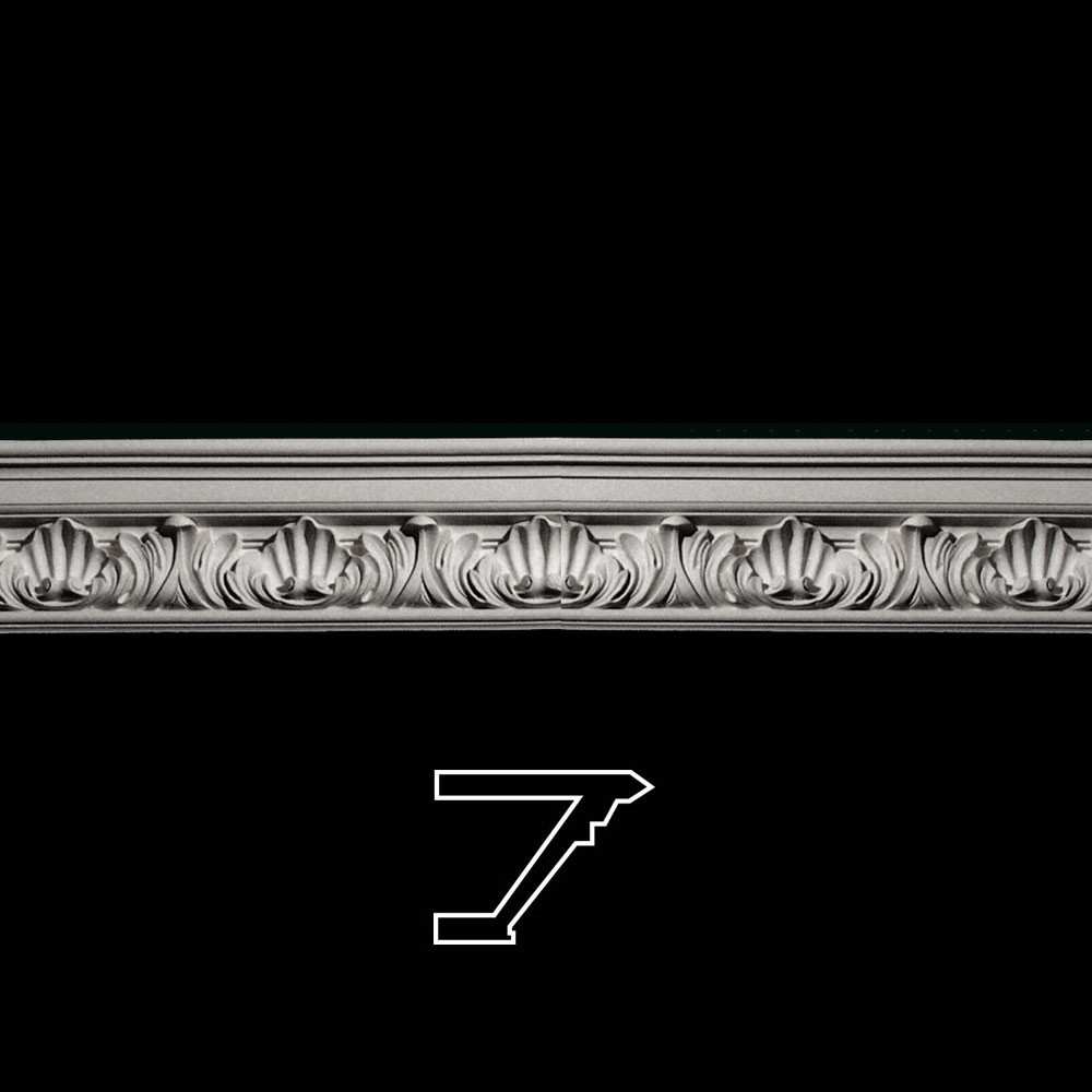 MLD-214-EXT Series Acanthus Leaf Crown Moulding Extension Trevor Resin Collection