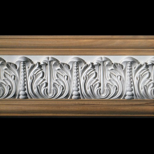 MLD-404A 4 Inch Width Acanthus Leaf and Pearls Resin Moulding