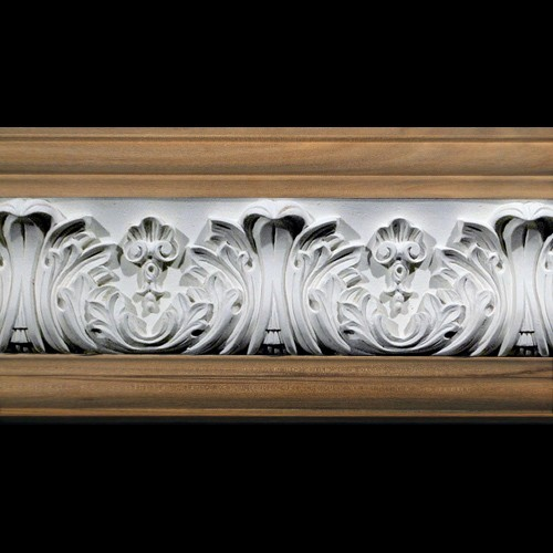 FRZ-404B Acanthus Leaf with Shells Resin Frieze Moulding