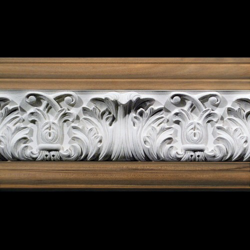 FRZ-404C Acanthus Leaf with Scroll Resin Frieze Moulding