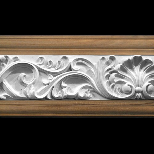 MLD-406D 6 Inch Width Shell and Acanthus Leaf Swag Resin Moulding
