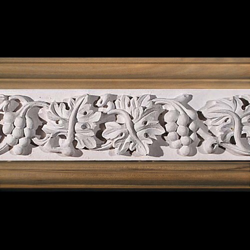 MLD-404E 4 Inch Width Grapes and Acanthus Leaf Resin Moulding