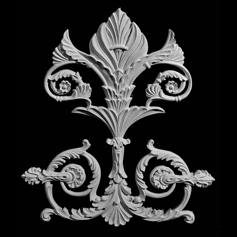 OL-125 Series Crest with Curled Acanthus Leaf Resin Onlay