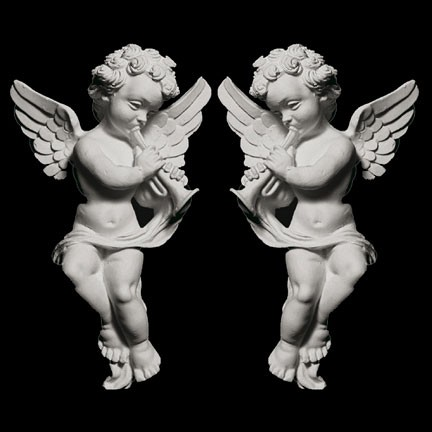 OL-174 Left and Right Winged Cherubs Resin Onlay