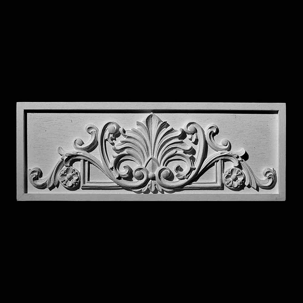 PANL-210 Series Leaf with Scroll and Rosettes Resin Center Panel Metal Finish