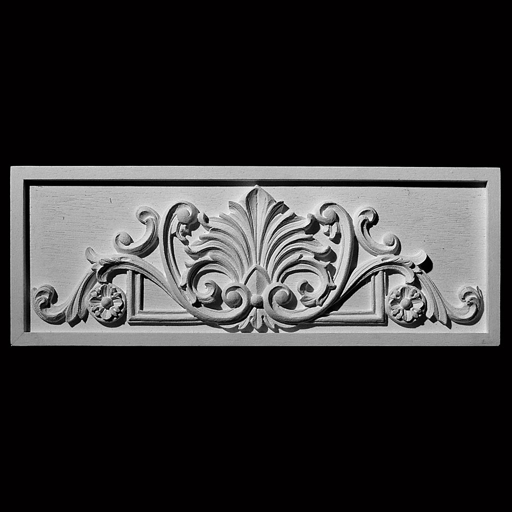 PANL-212 Series  Leaf with Scroll and Rosettes Resin Center Panel Metal Finish
