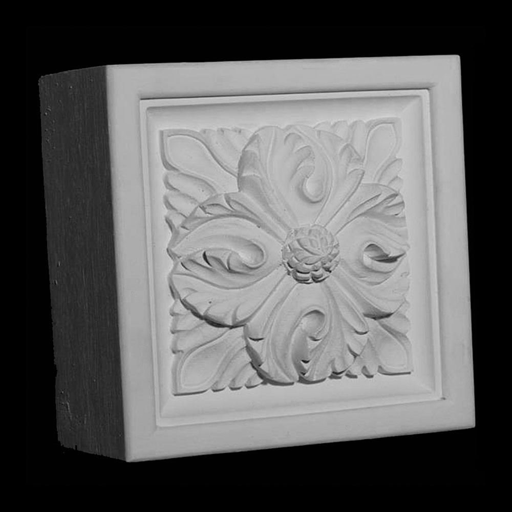 PB4-T Series Flower Acanthus Leaf Plinth Block Trevor Resin Collection