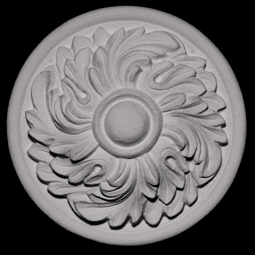 ROST-131 Series Swirl Floret on Backing Resin Rosette