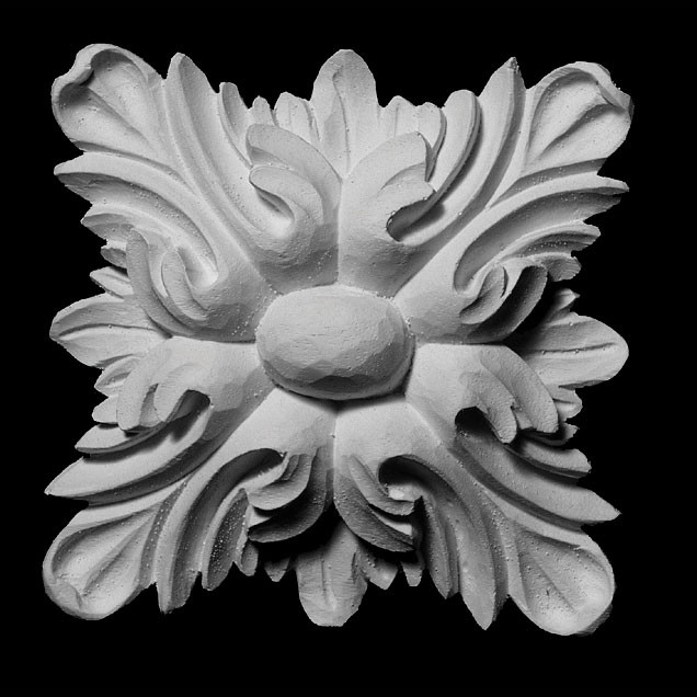 ROST-340 Square Leaf Resin Rosette