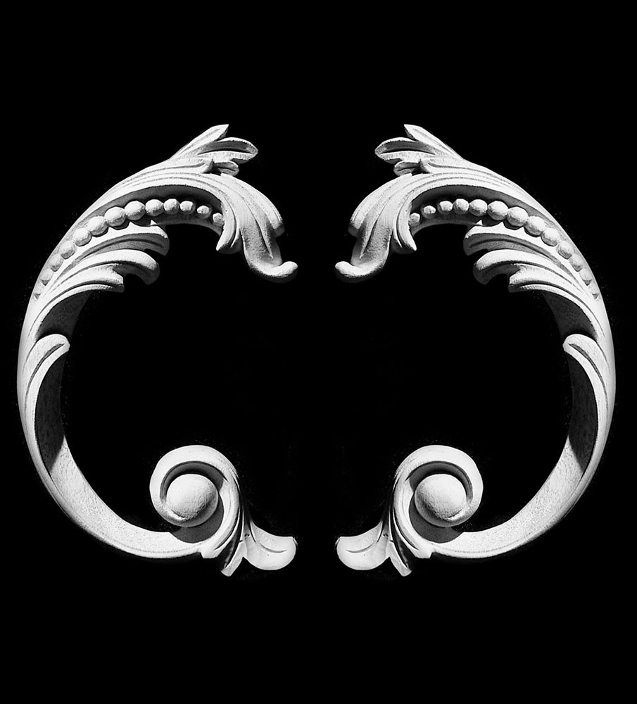 SCR-412 Series Acanthus leaf Resin Scroll