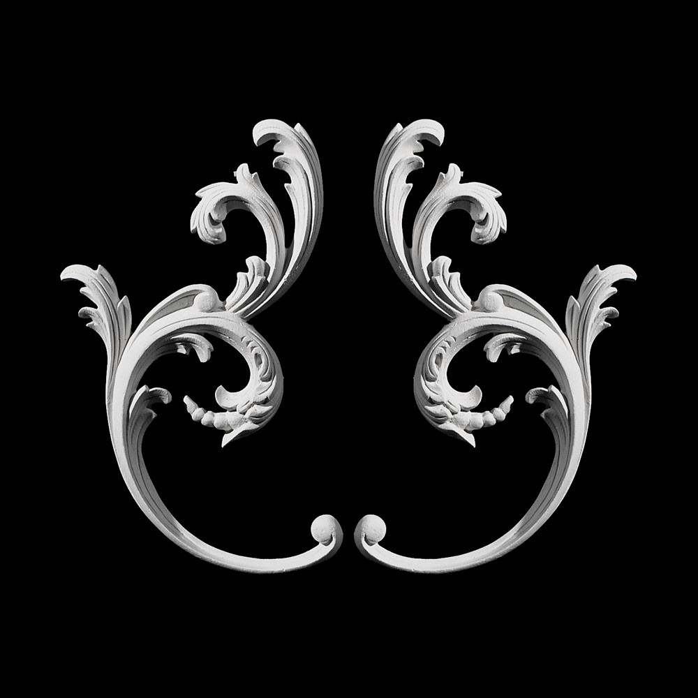 SW-136 Series Curved Leaf  with Beads Resin Swag Pair