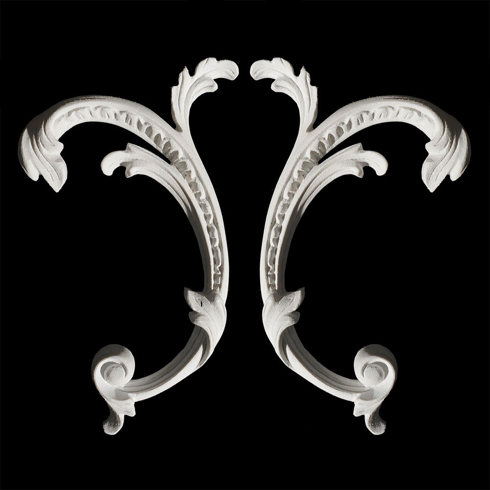 SW-142 Acanthus Leaf and Scroll Resin Swag Pair