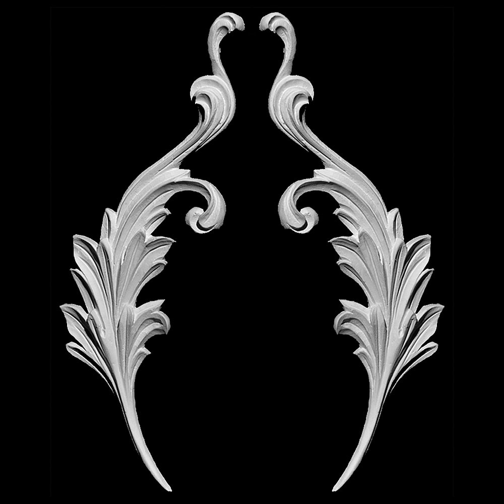 SW-118 Series Acanthus Leaf Resin Swag Pair