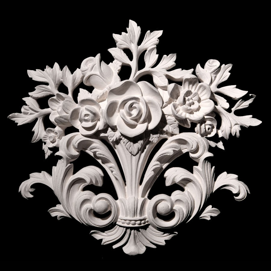 VC-100C Resin Flower and Acanthus Leaf Versailles Ceiling Collection