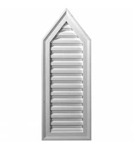 "EM-GVPE12X32D - 12""W x 32""H x 1 3/4""P, 8/12 Pitch, Peaked Gable Vent, Decorative"