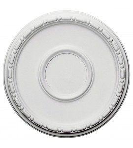 """EM-CM16MD - 16 1/2""""OD x 1 1/2""""P Medea Ceiling Medallion (Fits Canopies up to 5 1/2"""")"""
