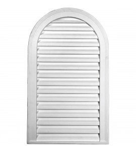 "EM-GVCA18X30D - 18""W x 30""H x 2""P, Cathedral Gable Vent Louver, Decorative"