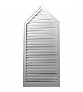 "EM-GVPE24X54D - 24 1/8""W x 54 1/8""H x 2""P, 6/12 Pitch, Peaked Gable Vent, Decorative"