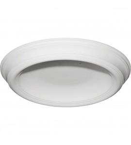 "EM-DOME37TR - 37 3/8""OD x 26 1/2""ID x 4""D Traditional Smooth Surface Mount Ceiling Dome"